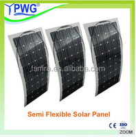 High Efficiency and Good Quality 100w semi fexible solar panel, solar power system for system