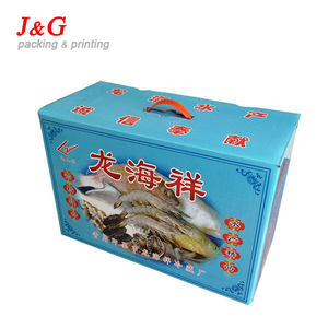 water resistant cardboard box for seafood