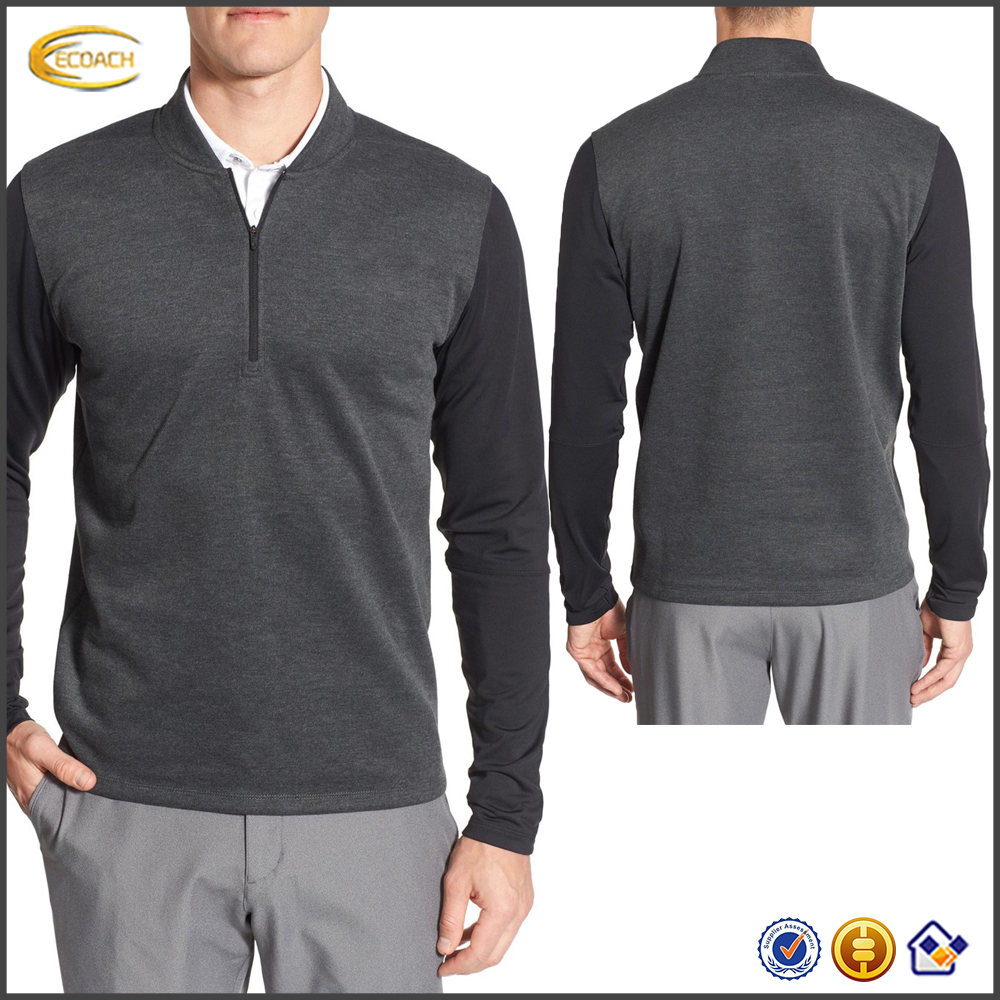 Wholesale High Quality Lowest Costs Factory Price 100% Polyester Long Sleeve Quarter Zip Mens Sweatshirts