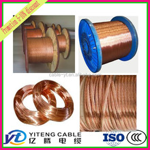 hard drawn annealed naked bare copper wire rod oxygen free 99.99%