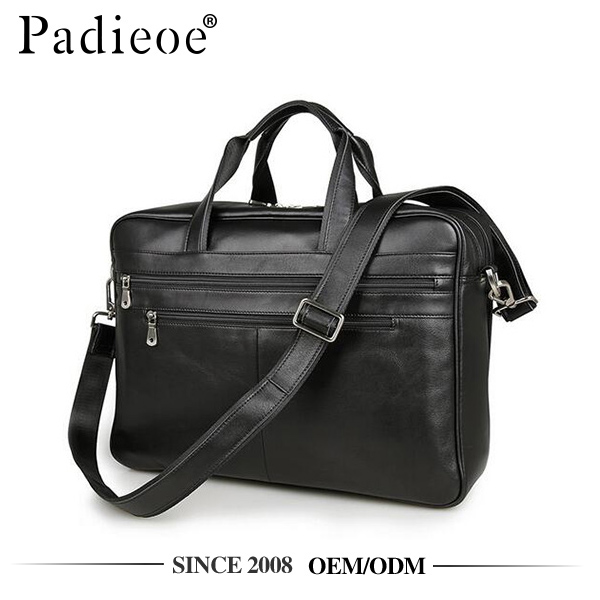 Padieoe PDA032 wholesale price leather oversize briefcase laptop tote bag
