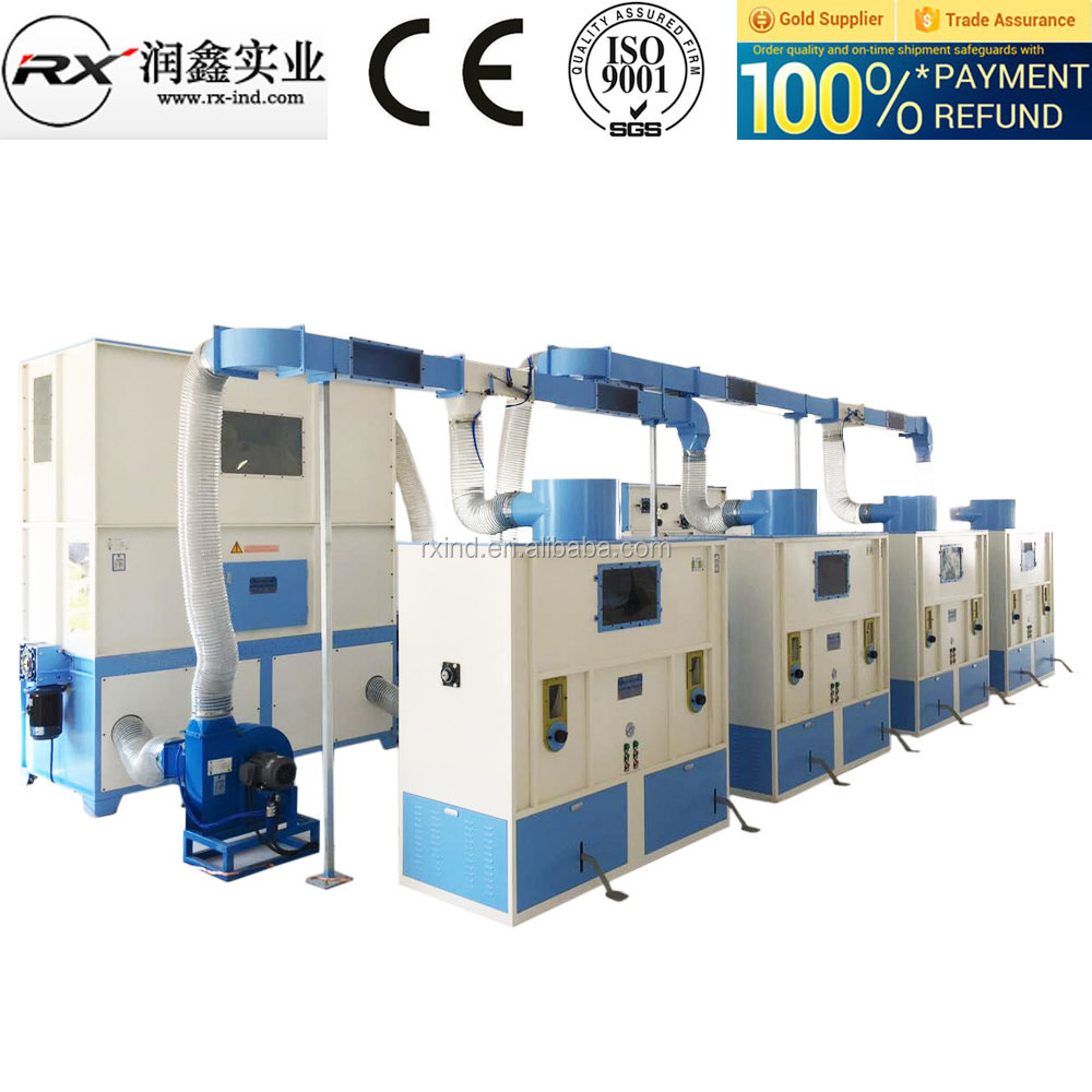 Pillow/Toy/Cushion PP cotton fiber filling machine running well in the <strong>U</strong>.S.
