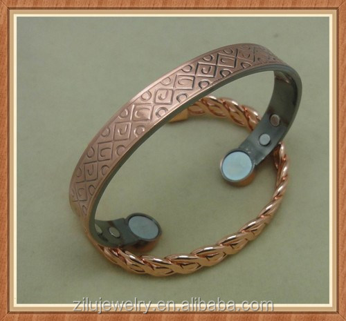 Alibaba website china supplier high quality magnetic copper bracelet for Men and Women to help support Arthritis