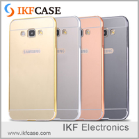 High Quality metal frame and electroplate mirror cell phone case for Samsung Galaxy A8 A800