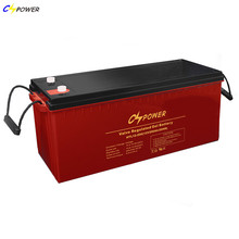 China 12V 200Ah Rechargeable Solar Gel Deep Cycle Golf Cart Battery