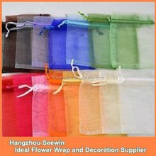 13x18 cm Colorful Cheap Drawstring Organza Bags Wholesale