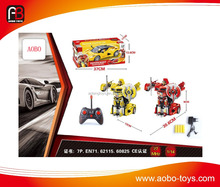 2017 Best gift 1:14 rc robot deformation car toy