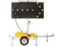 OPTRAFFIC Remote Control Solar Powered Used Directional Flashing Arrow Board Trailer Portable Led Traffic Singal Light