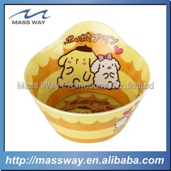 funny cartoon Plastic Melamine dog bowl