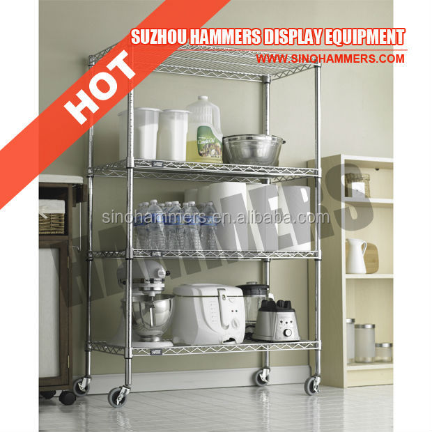 Adjustable Chrome Wire Shelving for Kitchen
