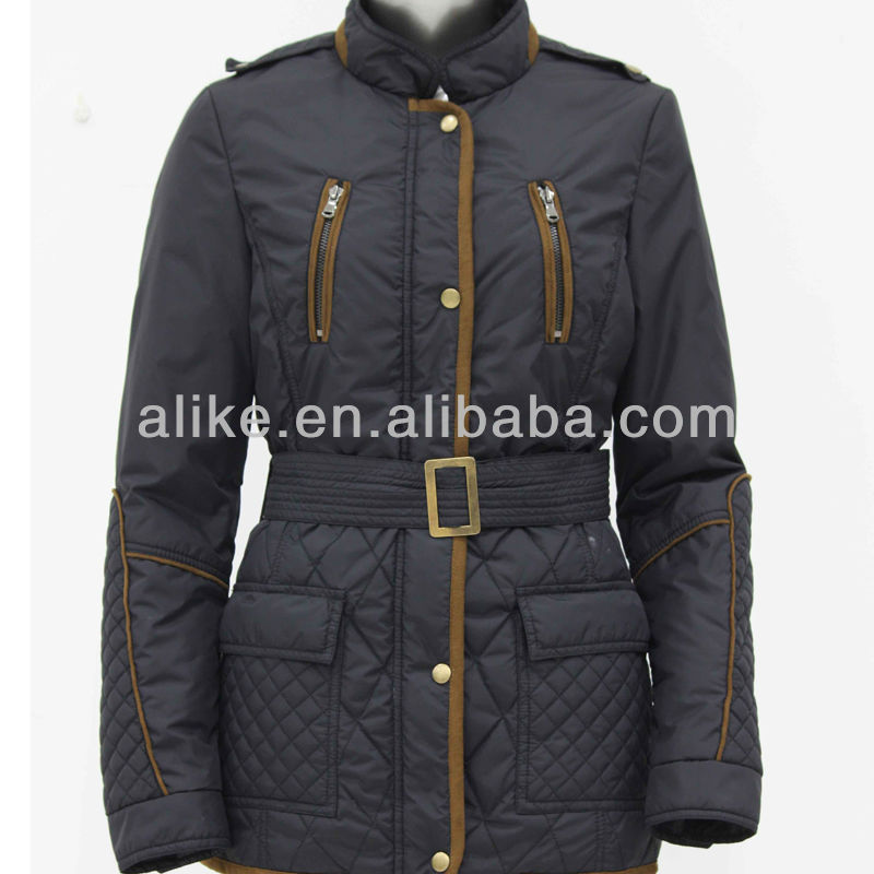 Oem nylon brand name women winter padding jacket for women