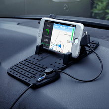 Mobile Phones Car Holder Silicone Navigation Stent with Charging Line