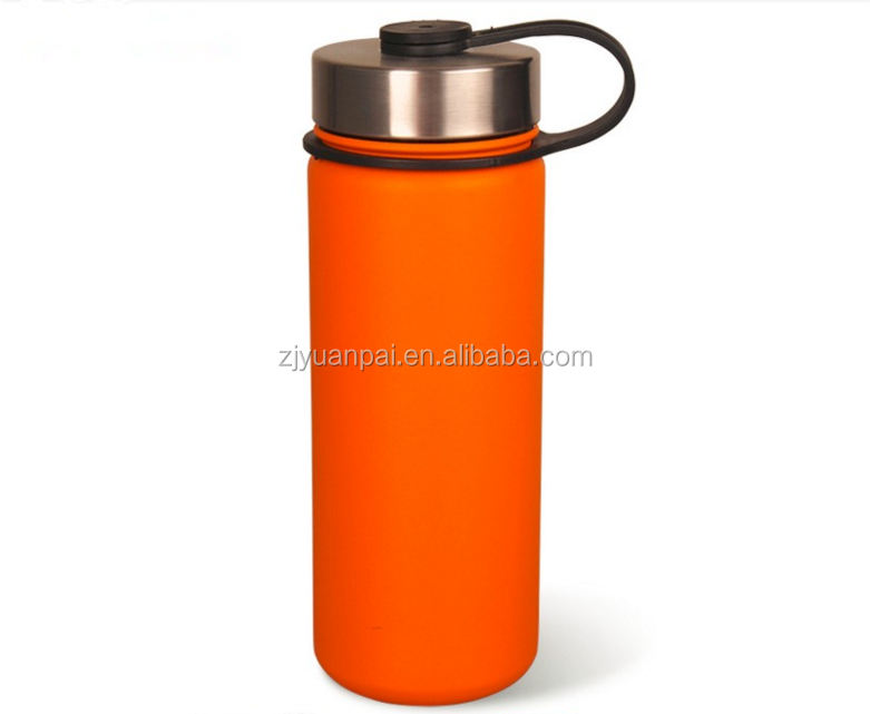 Hydro Flask vacuum insulated bottle Powder coating water bottle with straw lid and wide mouth
