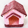 Cute Pet Dog House Soft Foam Padded Detachable Folding Small Dog Kennel Cat Bed