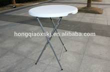 high quality durable cocktail table/display used round table with LED light/80cm coffee table