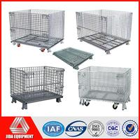 durable industrial foldable storage cage