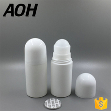 Top Selling Cosmetic Packaging Empty Deodorant Bottle Roll On Bottles With Plastic Ball