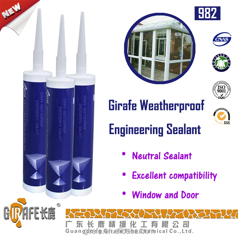 Girafe 982 Superior All Weatherseal Mastic Silicone Sealant