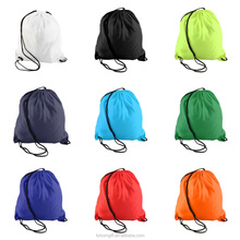 2016 Eco-Friendly custom promotional 210d nylon polyester drawstring bag