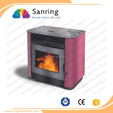 13 KW cold rolled steel wood pellet fireplace,pellet room heater