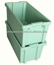 Nestable Crate, Fruit Crate, Green Crate, 800x400x350mm