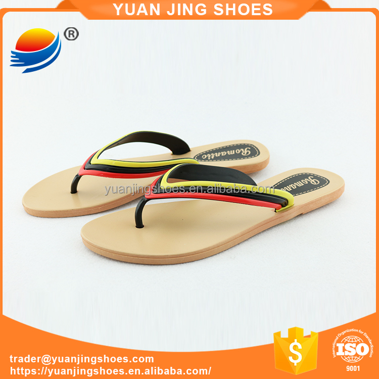 Wholesale China Best Selling Women Shoes PVC Flip Flop Slippers Ladies Flat Beach Slipper 1J410+8W