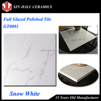 Cheap Low Price 60x60 Snow White Full Glazed Imitation Flooring Marble Tile