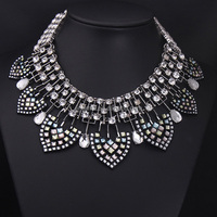 NK4941 J&M Fashion brand designer women crystal statement choker necklace
