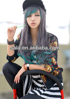 Wholesale Cosplay Wig Multi Color Cosplay Crazy Color Wigs Synthetic Hair Wigs Japan Fiber