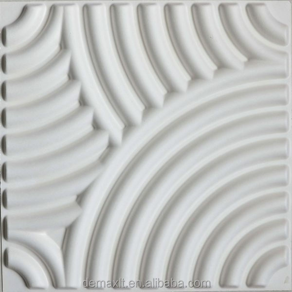 paintable interior decoration 3d textured wall panel