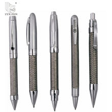 Pearl white pen with golden parts,Stainless steel wire braid metal pen
