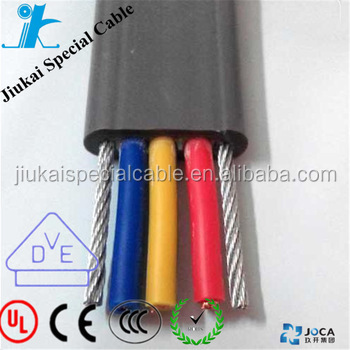 Crane hoist elevator cable for elevator systems with excellent wear resistance conformitied RoHS