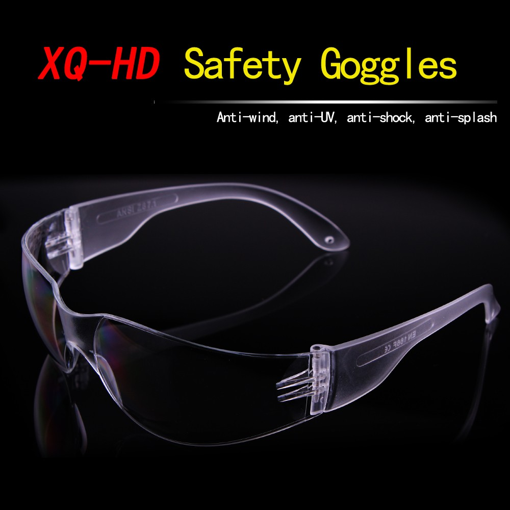Protective outdoor goggles dust proof pc clear lens safety goggles En166 in China