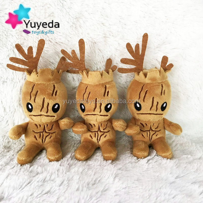 custom of plush groot,groot keychain custom plush toy