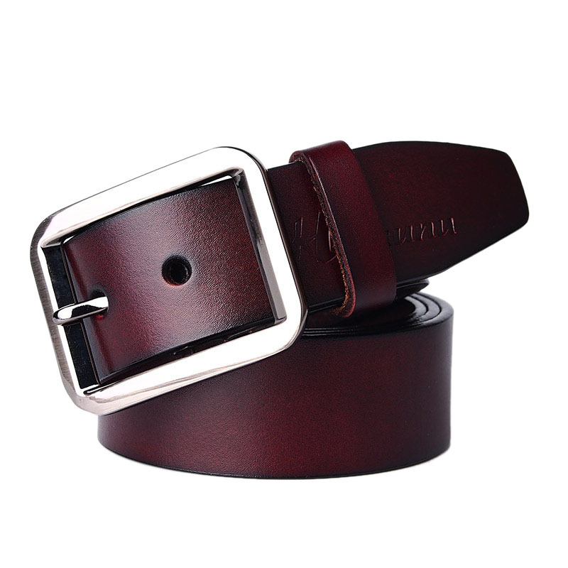 2015 New Business Belt 100% Cowhide leather belt for men Brand ceinture  Homme Metal buckle