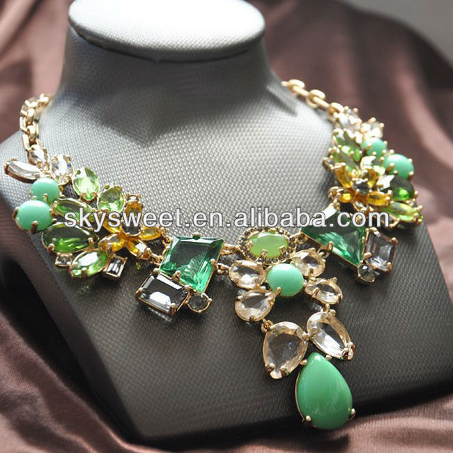 latest design new jewelry fair, diamond heavy diamond necklace