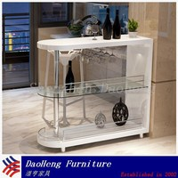 Home Furniture White MDF Wood Bar Counter for Kitchen Using