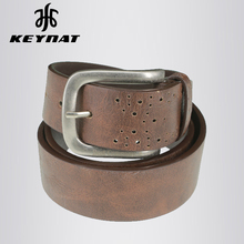 Genuine Leather Pin Buckles Belt for Men