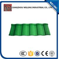 China building material colorful stone coated steel roofing sheet/roof tile