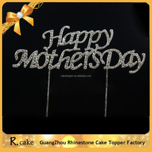Unique Mother's Day rhinestone cake decoration ,best gift for Mother's Day