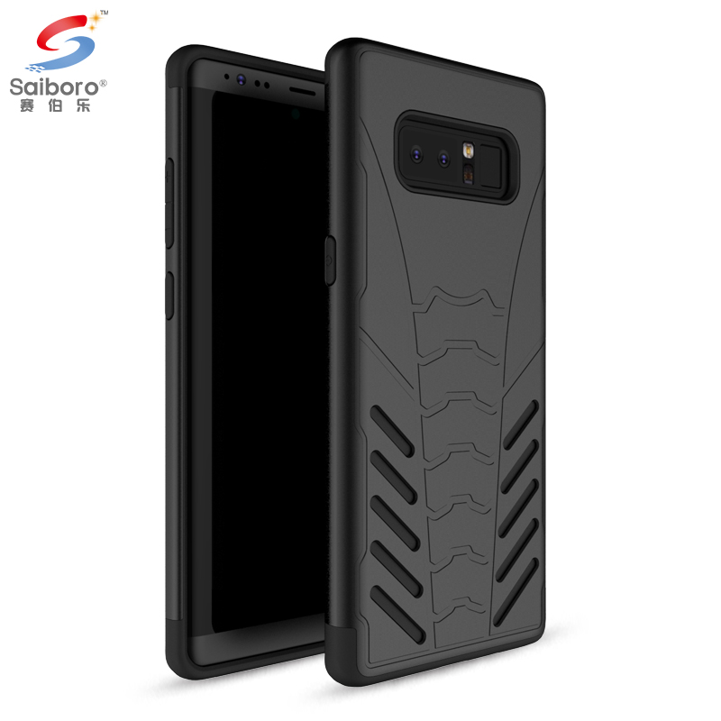 Phone accessories tpu pc armor black phone case <strong>cover</strong> for samsung galaxy note 8