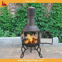 Outdoor cast iron chimenea metal chimney
