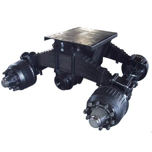 Single Axle Tandem : Single point suspension bogie t tandem trailer axle