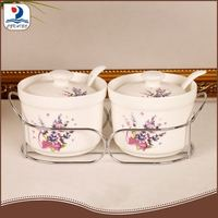 10120 4S 2pc Porcelain Kitchen Spice