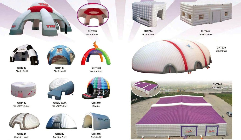Mobile stage using Inflatable Tent / giant inflatable event dome for sale