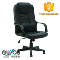 Black office chair wheel base chair with pp armrest