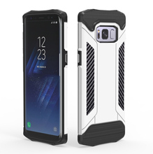 Ultra thin electroplated PC TPU combo case for samsung galaxy S8 , S8/S8 plus Solid Armor case with carbon pattern