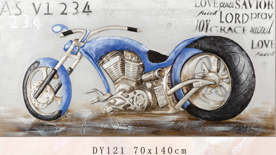 Autobike painting on canvas motorcycle oil painting