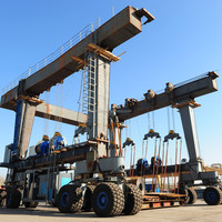 boat lift mobile gantry crane with travelling mechanism