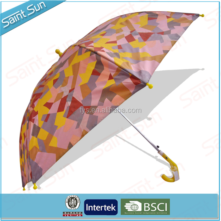 Fashional Heat Transfer Straight Kids Umbrella for Customized Design Umbrella